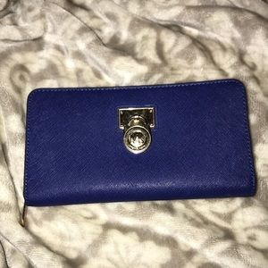 Blue Michael Kors lock Wallet
